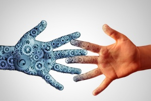 Two hands expressing social engineering services