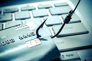 concept of a phishing attack