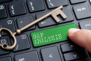 a gap analysis being performed by a risk assessment firm